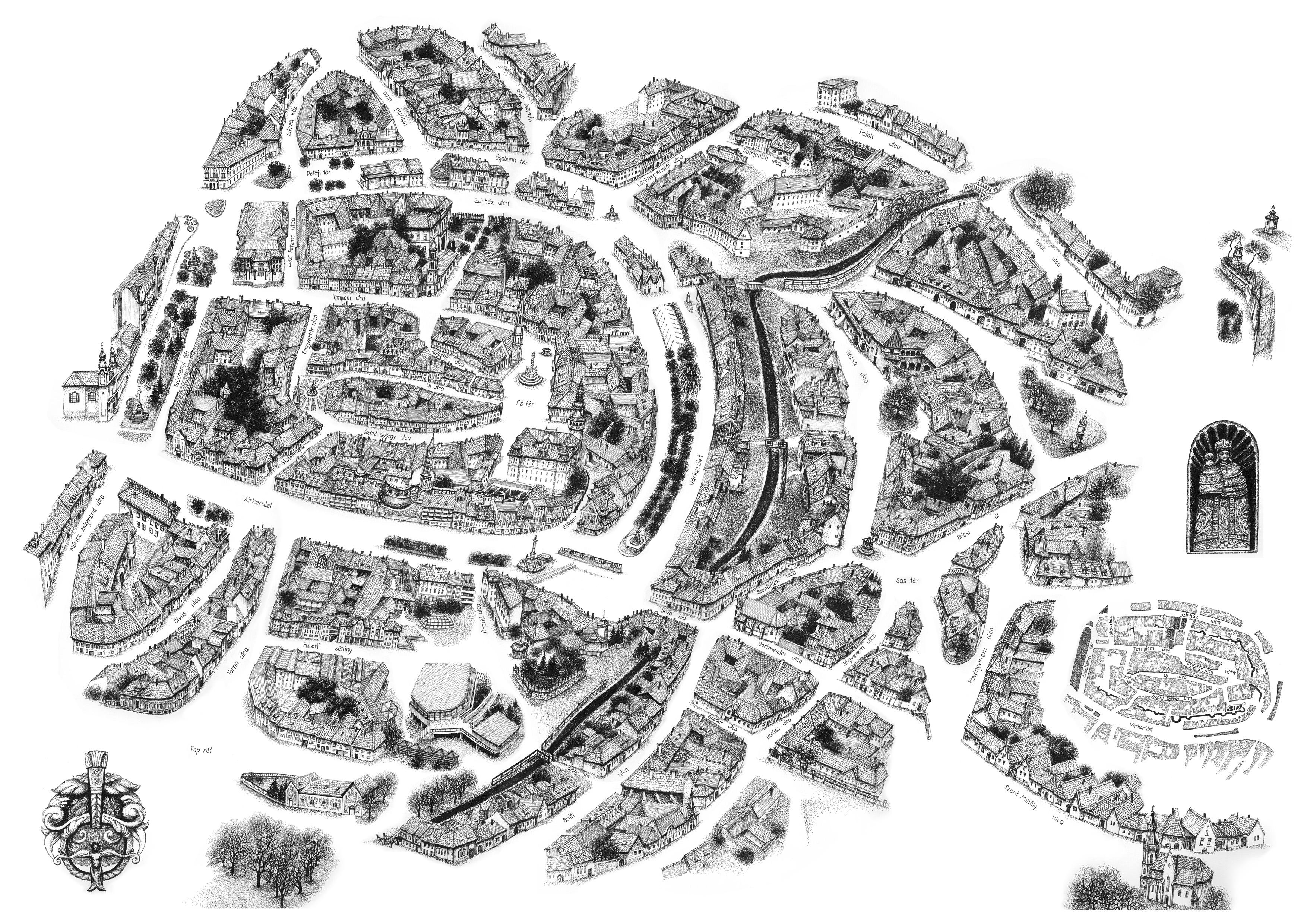 sopron látnivalók térkép Sopron sopron látnivalók térkép